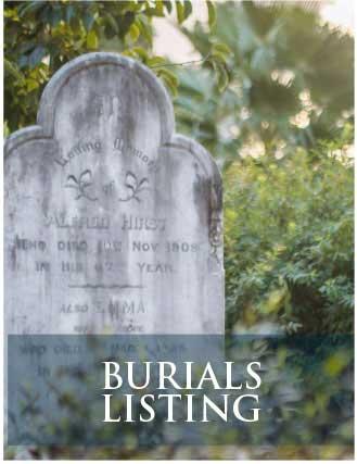 Burials Listing